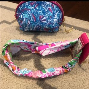 Lilly Pulitzer for Target Bags - Lily Pulitzer for Target: cosmetic bag/head wrap